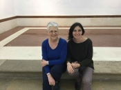 "Thumbnail image of ""Karen with her host in Spain, Professor Patricia Hernandez"""