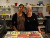 "Thumbnail image of ""Karen with Ina Kaur at the University of Tampa"""