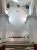 "Thumbnail image of ""the high altar space with my works, Arcos"""