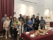 "Thumbnail image of ""Family & locals at the opening reception, Arcos, Spain"""